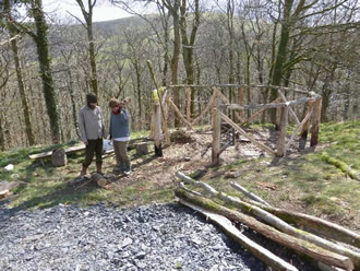 starting to build the roundhouse